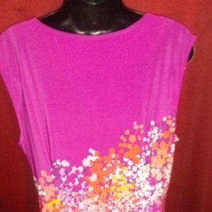 Apt. 9 Dresses - Apt. 9 pink purple midi dress